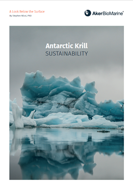 Antarctic Krill Sustainability Brochure Cover